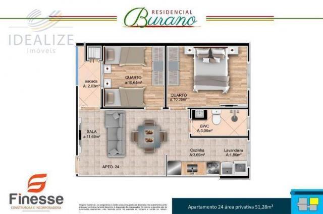Apartamento à venda com 2 dormitórios em Afonso pena, São josé dos pinhais cod:1726522 - Foto 8