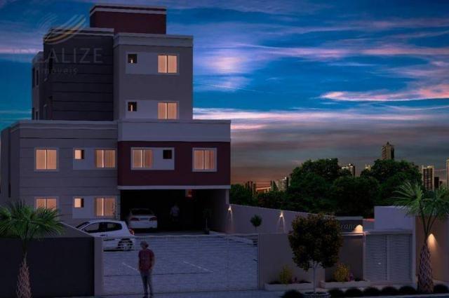 Apartamento à venda com 2 dormitórios em Afonso pena, São josé dos pinhais cod:1726522 - Foto 3