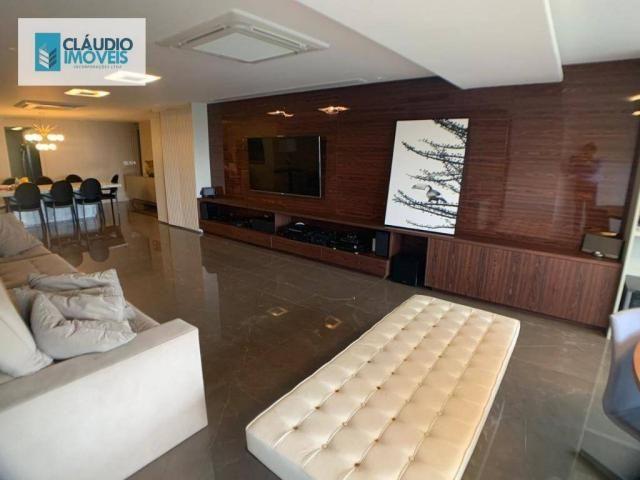 Apartamento com 4 dormitórios à venda, 203 m² por r$ 1.600.000 - jatiúca - maceió/al