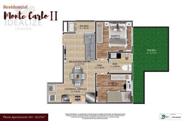 Apartamento à venda com 2 dormitórios em Cruzeiro, São josé dos pinhais cod:1927620 - Foto 9