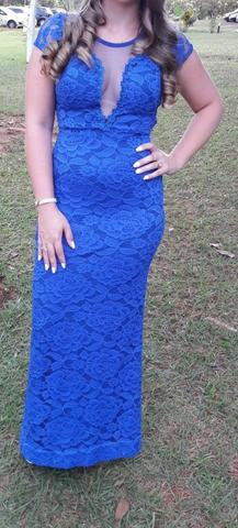 Vestido de festa - Azul bic