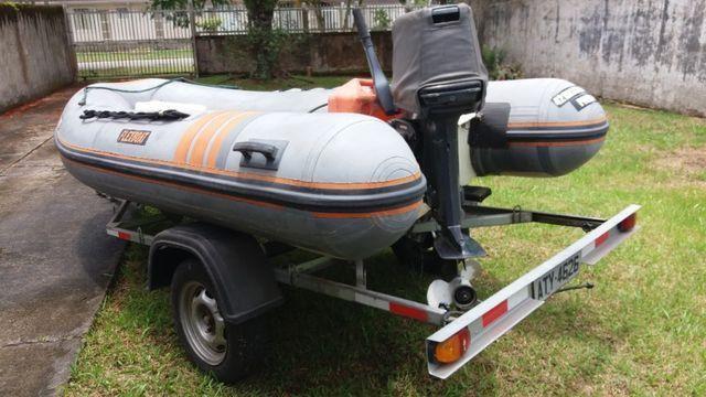 Barco Inflável Flexboat SR 12 motor Yamaha 40hp - Foto 2
