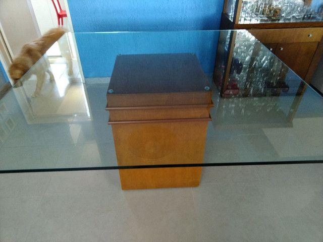 Mesa quadrada tampo de vidro 1,50 X 1,50  espessura do vidro 10 mm - Foto 3
