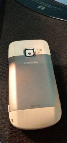Celular Nokia C3-00 prata sem bateria mas funcionando