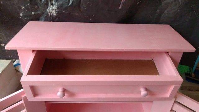 Cômoda rosa bebê - Foto 2