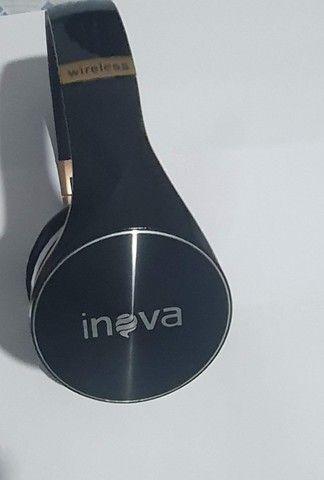 Fone De Ouvido Sem Fio Bluetooth Headphone Estéreo Inova - Foto 4