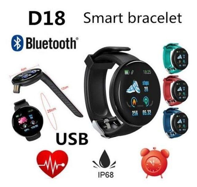 Smartwatch D18 - Relógio Inteligente envio imediato - Foto 2