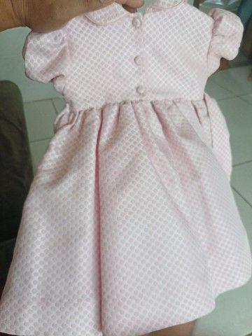 Vestido Marca Mio Bebê usado apenas uma vez - Foto 2
