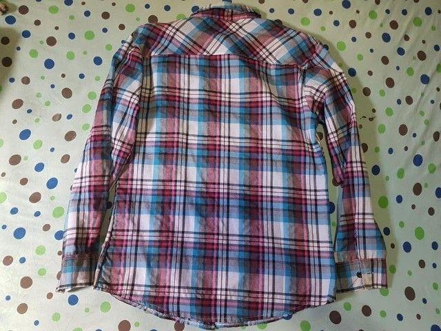 Camisa Polo Xadrez Manga Longa P - Foto 2