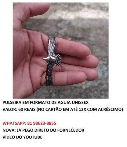 pulseira em formato de águia unissex  - Foto 5