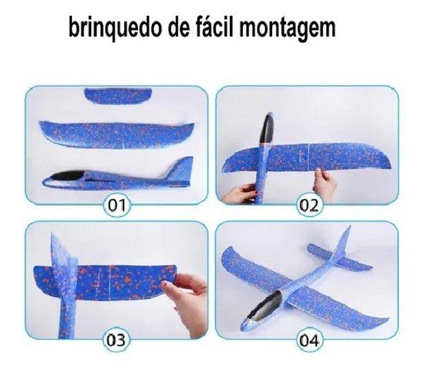 Aeromodelo Planador Manual Avião Isopor Flexível, Muito Divertido!! - Foto 5
