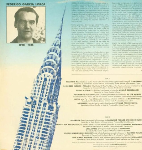 LP Poetas em Nova Iorque.  Part. Fagner - Foto 2