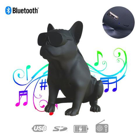 Caixa de Som Bluetooth Z13 Bulldog Francês Cachorro Portátil 10w Fm