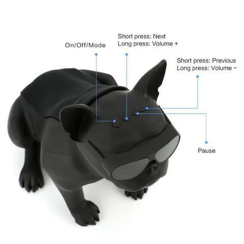 Caixa de Som Bluetooth Z13 Bulldog Francês Cachorro Portátil 10w Fm - Foto 4