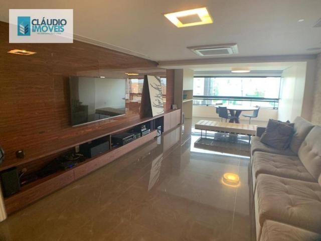 Apartamento com 4 dormitórios à venda, 203 m² por r$ 1.600.000 - jatiúca - maceió/al - Foto 3