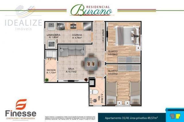 Apartamento à venda com 2 dormitórios em Afonso pena, São josé dos pinhais cod:1726522 - Foto 9
