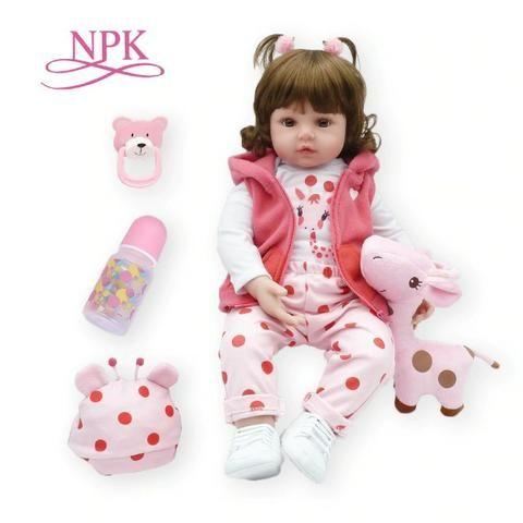 Boneca Bebê Reborn Dolls 47cm - Entrega Grátis