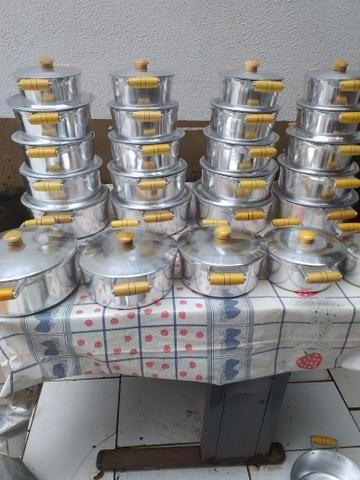 Jogos de panelas alumínio batidos apronta entrega