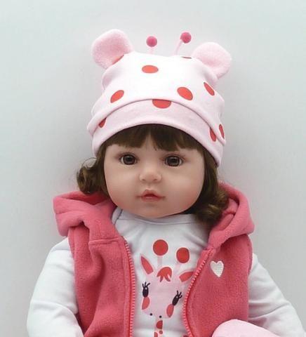 Boneca Bebê Reborn Dolls 47cm - Entrega Grátis - Foto 6
