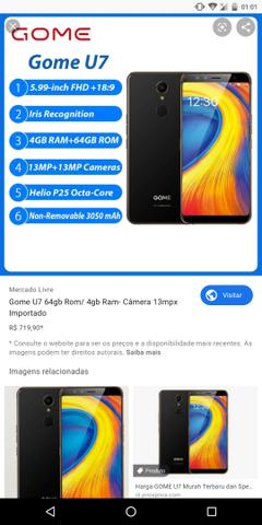 Smartphone importado gome u7