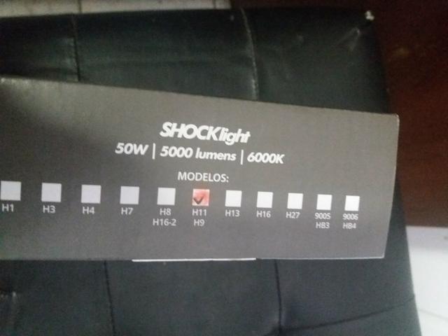 Led ultra led h11 schocklight Nova na embalagem garantida instalado