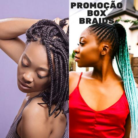 Promoção Black Friday- Box braids-tranças e Mega Hair, alongamentos