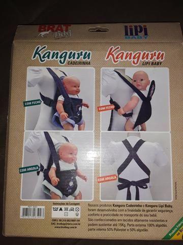 Canguru para carregar bebê e lençol com fronha pra berço - Foto 3