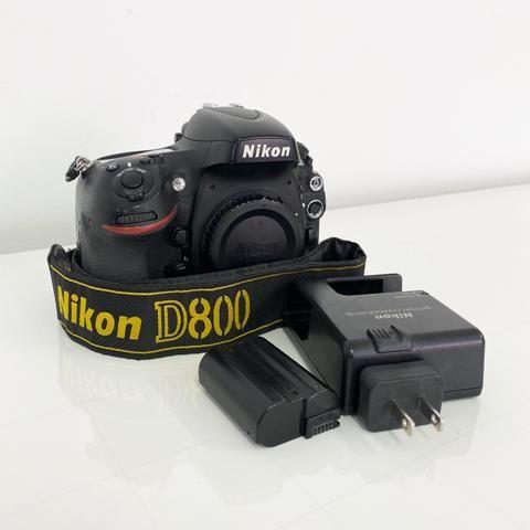 Câmera Full Frame Profissional SLR Nikon D800 36MP