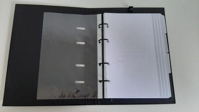 Caderno Fichário Preto - Ótima
