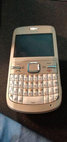 Celular Nokia C3-00 prata sem bateria mas funcionando - Foto 2
