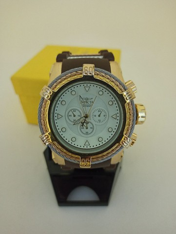 Relógio masculino dourado pulseira marrom muito lindo - Foto 2