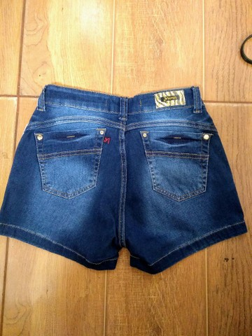 Bermuda fem jeans tamanho 40 - Foto 4