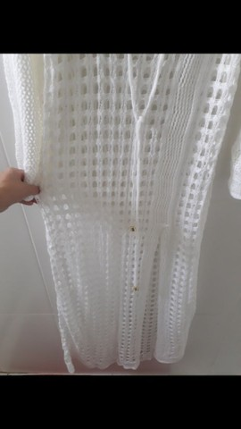 Saída de praia em tricô (Branca) - Foto 3