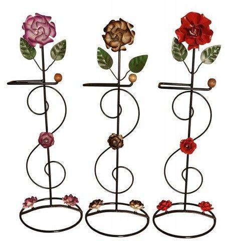 Porta papel de flores feito de ferro artesanato oferta
