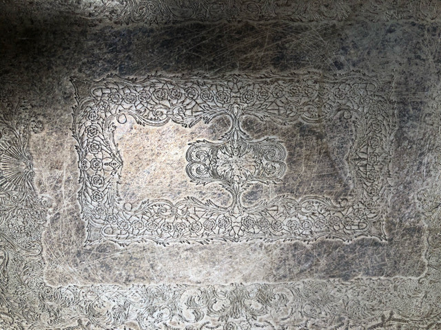 Bandeja e cremeira antigos se prata  - Foto 2
