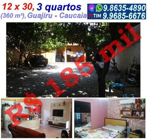 12 x 30, Guagiru, Caucaia, 3 quartos