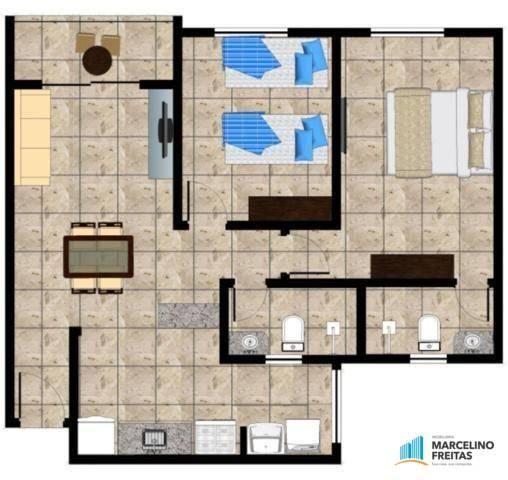 Apartamento residencial à venda, Mondubim, Fortaleza - AP0180. - Foto 2