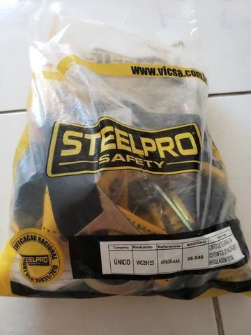 2 Cintos de Segurança para trabalho em altura com Talabarte SteelPro ... 0c374f4c58