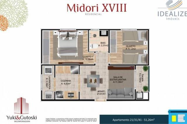 Apartamento à venda com 2 dormitórios em Afonso pena, São josé dos pinhais cod:2060496 - Foto 13