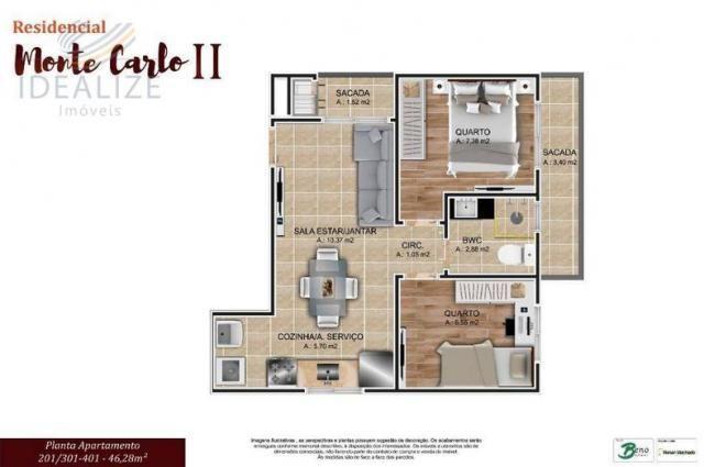 Apartamento à venda com 2 dormitórios em Cruzeiro, São josé dos pinhais cod:1927620 - Foto 7