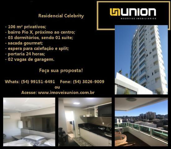 Oferta Imóveis Union! Apartamento todo mobiliado com 106 m² privativos no Pio X!