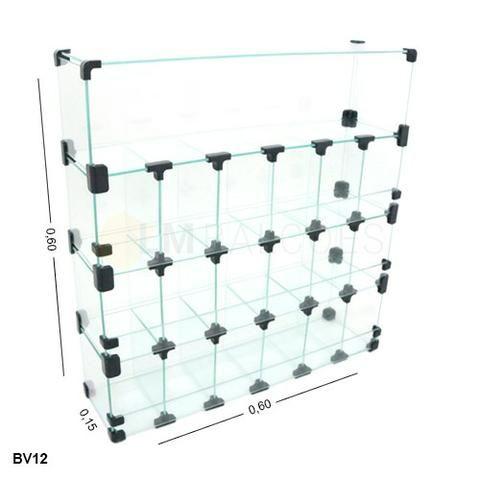 Baleiro de vidro 0,60 x 0,60 x 0,20 Frete e montagem gratis