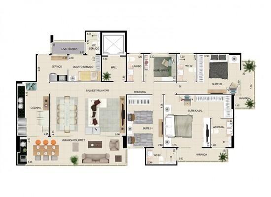 La Reserve - Aldeota - 156m2 privativos + Home Office - Construtora Colmeia - Foto 2