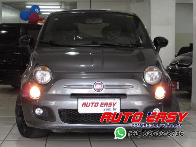 Fiat 500 Sport Air 1.4 C/ Couro! - Foto 9