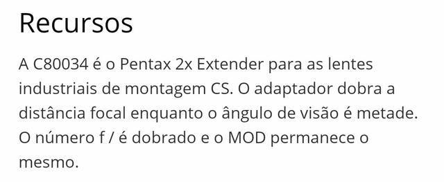 Lente cosmicar x2 extender - Foto 2