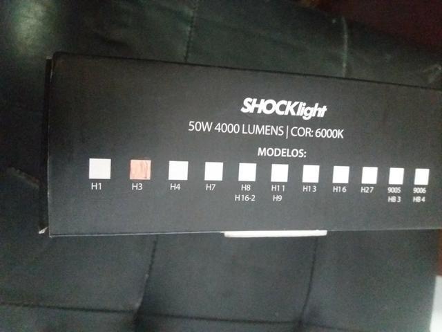 Led ultra led h3 schocklight nova na embalagem garantia instalado - Foto 2