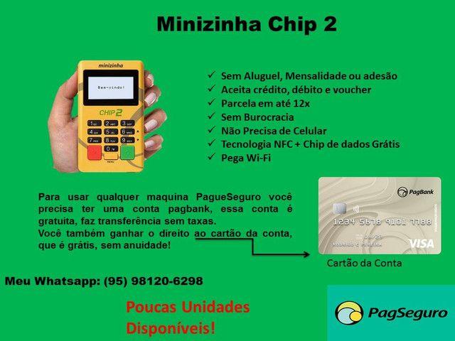 Minizinha chip 2 PagSeguro-pronta entrega(não precisa de celular)