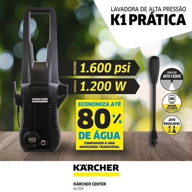 Lavadora Alta Pressão K1 Prática Black Karcher 1600LBS Garantia de 1 Ano - Foto 5
