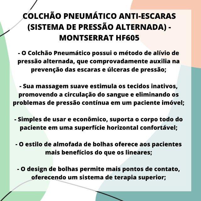 Colchão Anti-Escaras com Sistema de Pressão Alternada Montserrat HF605 - Foto 2