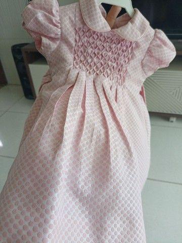 Vestido Marca Mio Bebê usado apenas uma vez - Foto 3